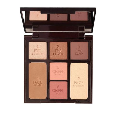 charlotte tilbury instant look in a palette   stoned rose beauty   limited edition make up palette