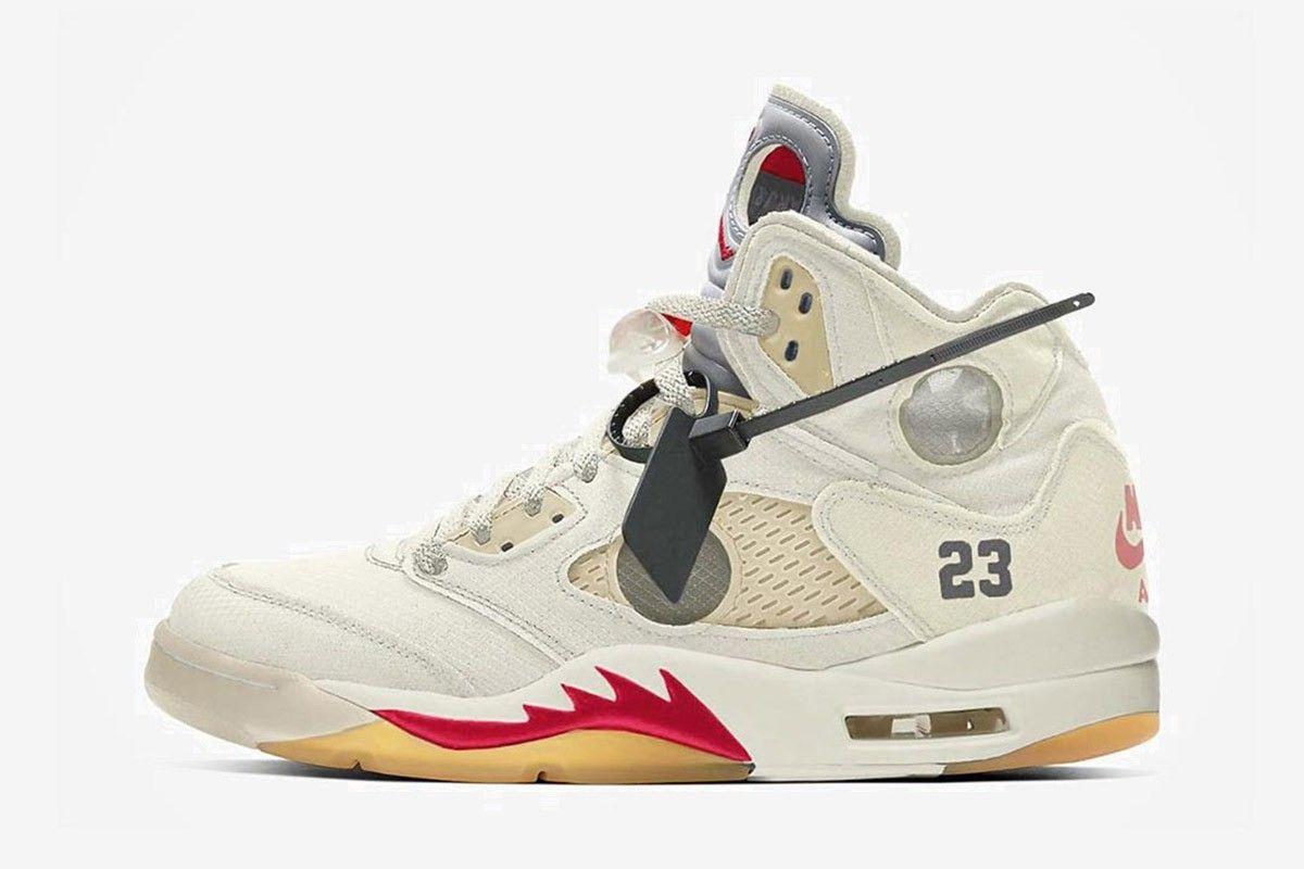 Le nuove sneakers uomo Air Jordan 5 Off-White x Nike stanno ...