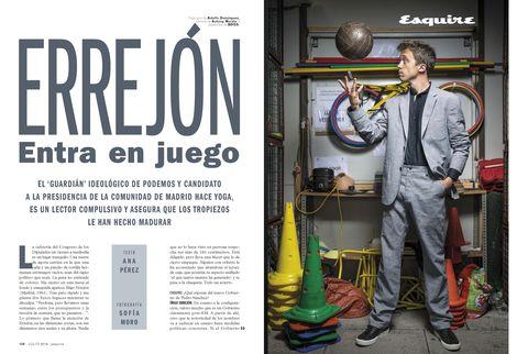 entrevista Íñigo Errejón revista Esquire
