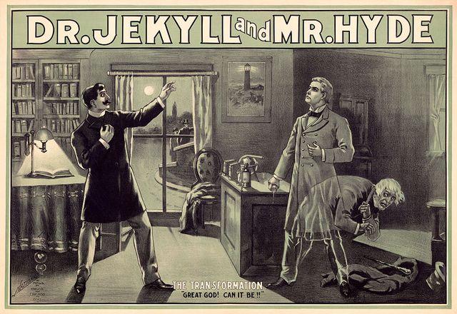 cartel de la obra dr jekyll and mr hyde, el caso de esquizofrenia más conocido del mundo