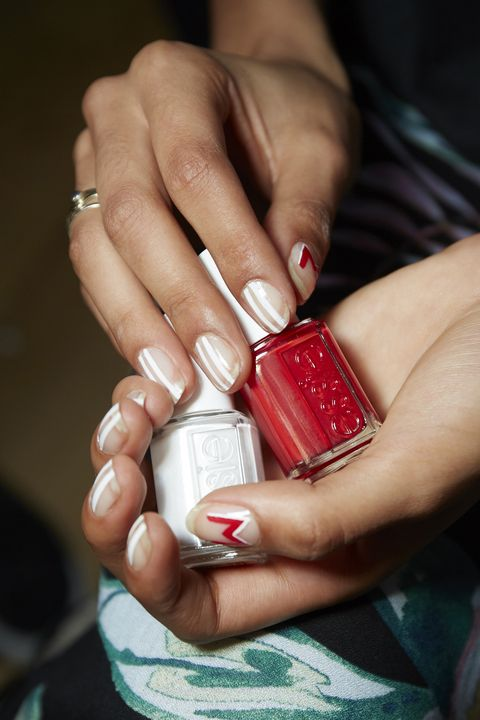 Nail, Nail polish, Red, Nail care, Manicure, Hand, Cosmetics, Finger, Lip, Material property,