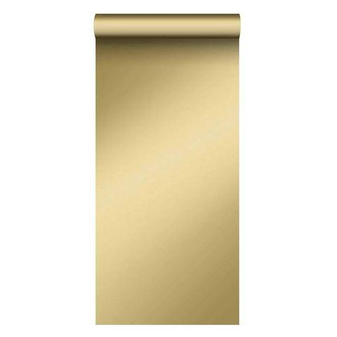 estahome behang effen glanzend goud