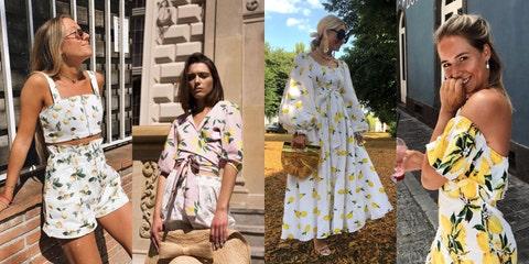 Yellow, Street fashion, Fashion, Dress, Summer, Fashion design, Plant, Style, Pattern,