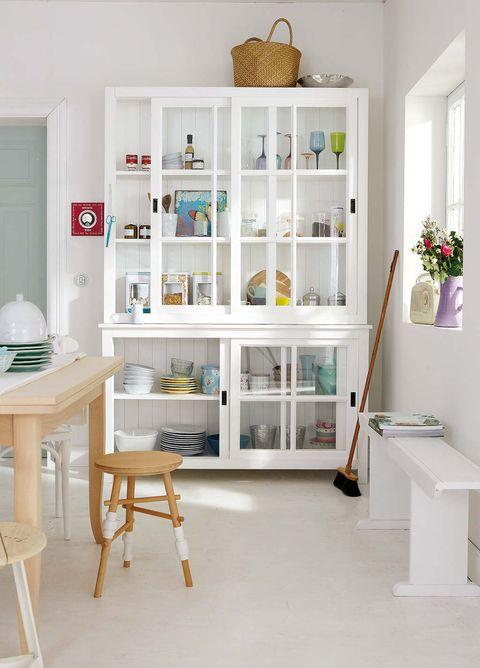 Shelf, Shelving, White, Furniture, Room, Interior design, Bookcase, Building, Desk, Floor,