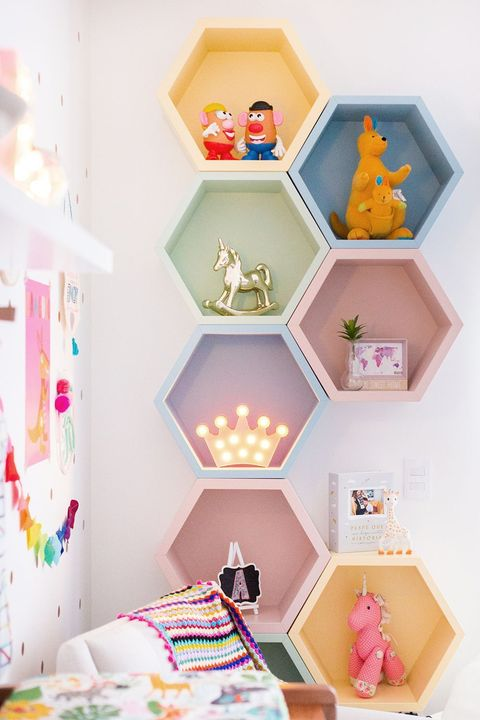 Estantería infantil a bloques de color
