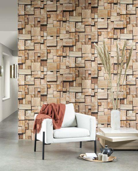 mural panoramic cubes, de la colección woods