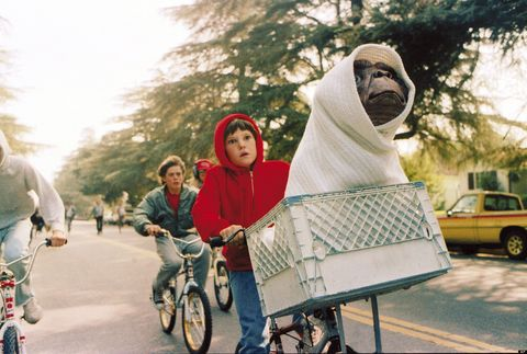 secuencia de et en bicicleta