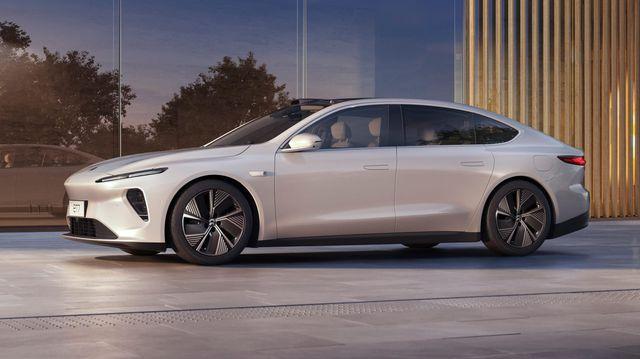 nio et7 electric sedan exterior debut