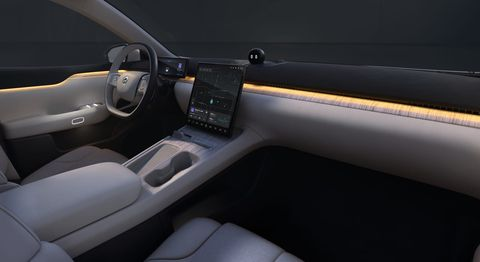 nội thất sedan điện nio et7