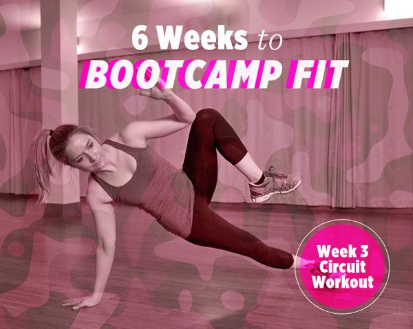 6 Weeks to Bootcamp Fit: Week 3 Strength Circuit Workout