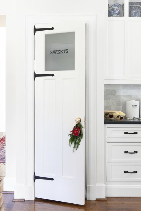 white etched pantry door