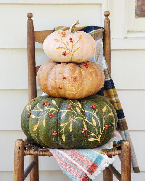 etched vine topiary pumpkin diy halloween decorations