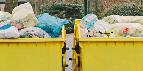 Yellow, Waste, Plastic, Waste container, Waste collector, Litter, Recycling,