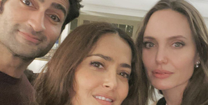 Kumail Nanjiani, Salma Hayek and Angelina Jolie of The Eternals