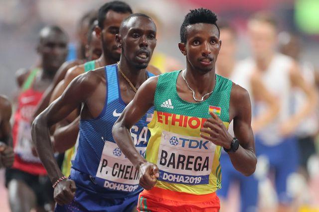 selemon barega corre los 5000 metros en el mundial de doha y hará los 10000 metros en los juegos olimpicos de tokio