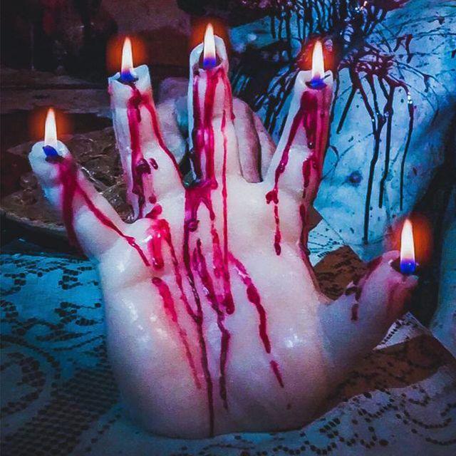 etsy bleeding candle for halloween
