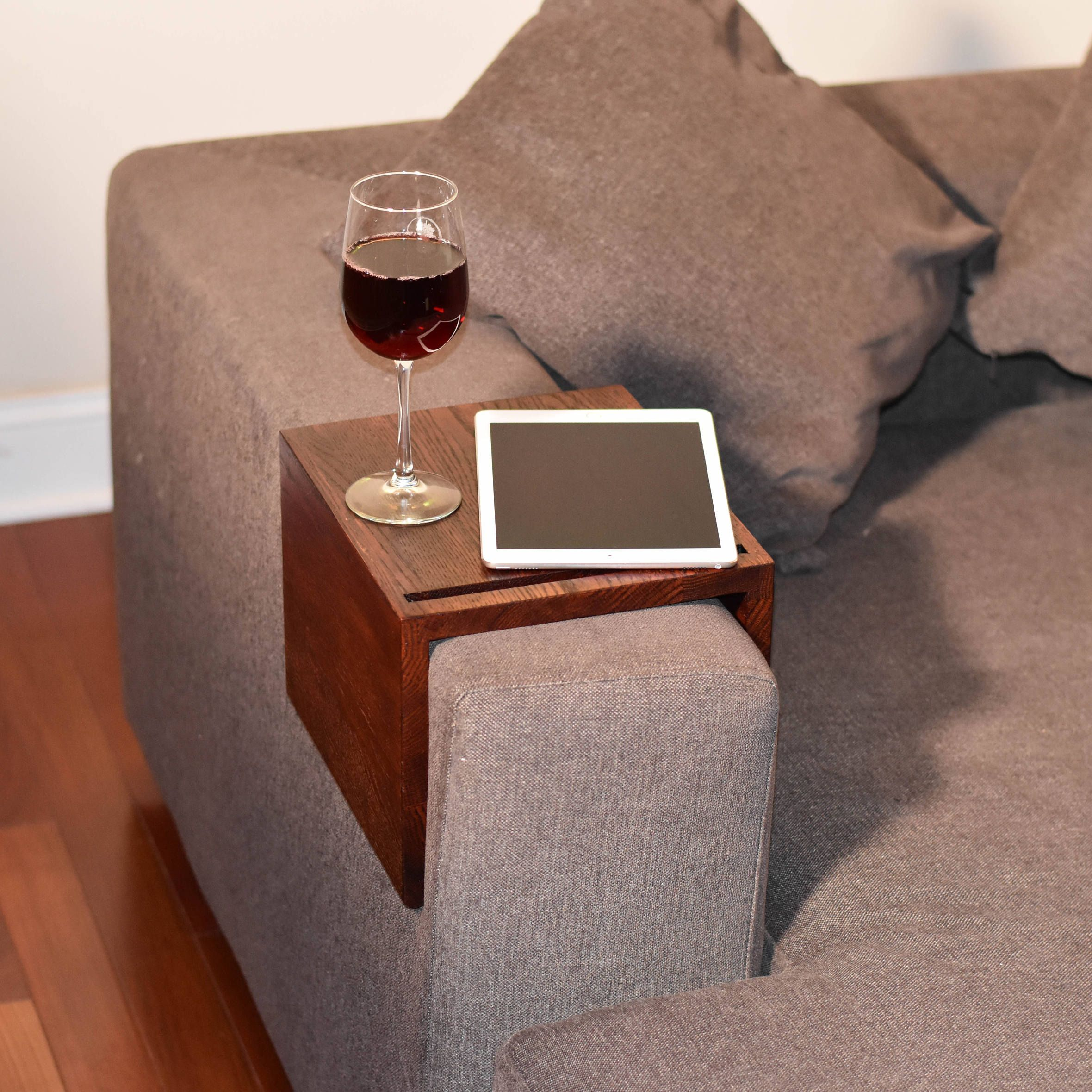 Couch Armrest Tables Are a Lifesaver for Small Spaces