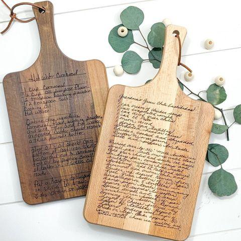 recipe cutting board  personalized cutting board  engraved cutting board  handwritten  kitchen decor  charcuterie  fathers day gift