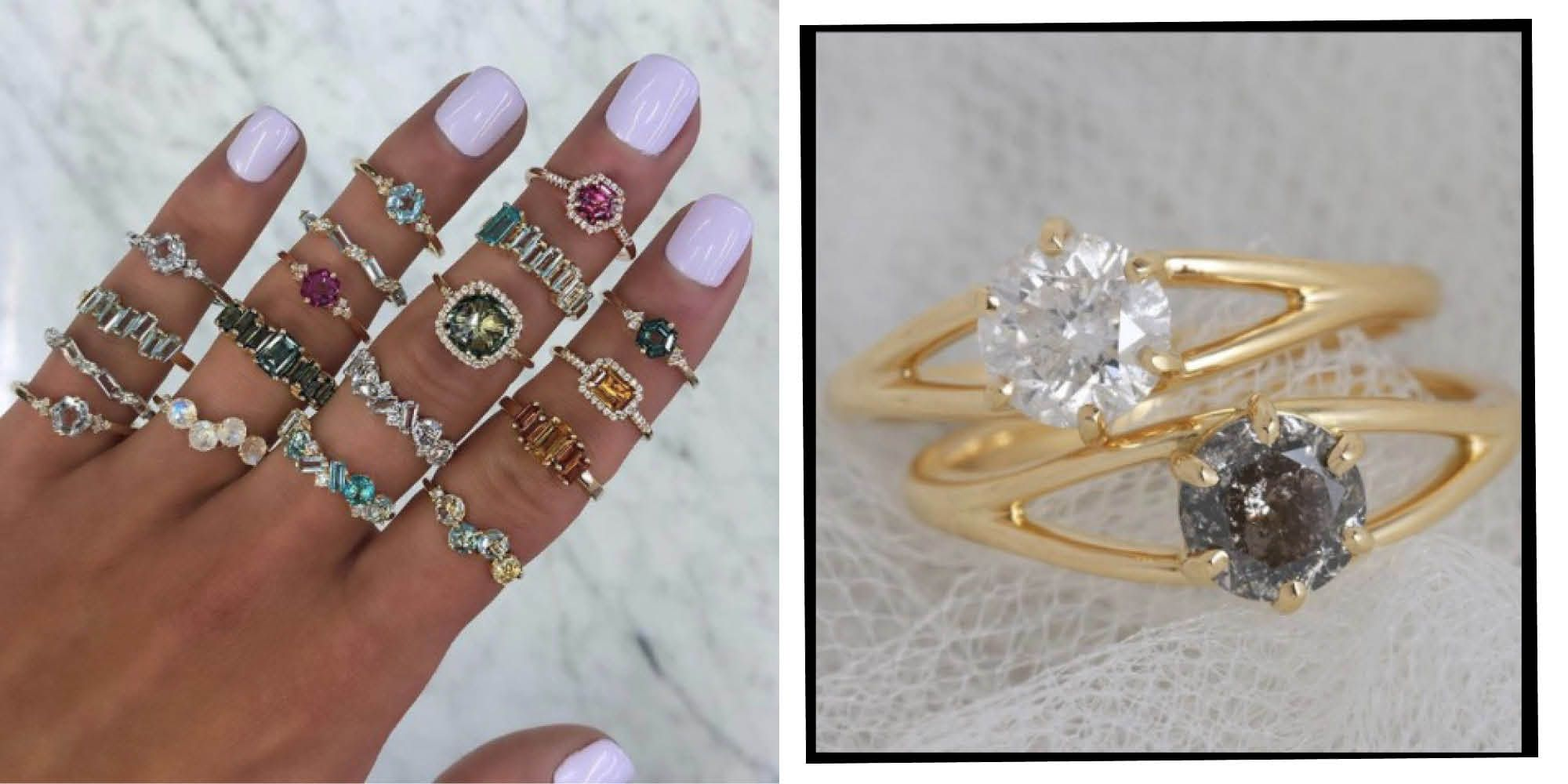 This is a graphic of Best Etsy Engagement Rings and Wedding Rings To Buy Now