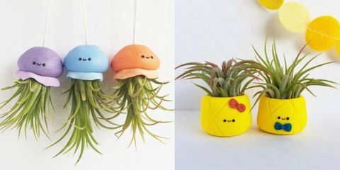 Etsy FunUsualSuspects Tiny Planters