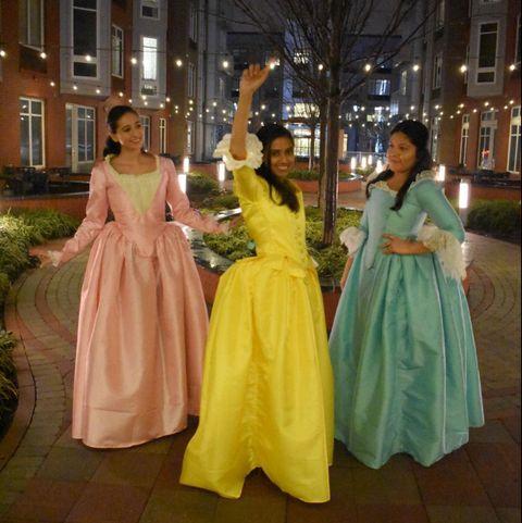 group halloween costumes hamilton sisters