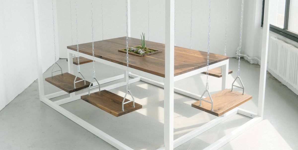 This 6-Person Swing Table From Etsy Can Be Assembled In Under An Hour