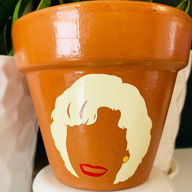 etsy 'the golden girls' planter pots