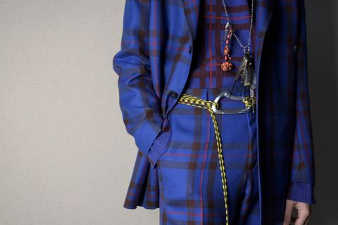 Blue, Cobalt blue, Clothing, Electric blue, Plaid, Outerwear, Textile, Design, Pattern, Sleeve,