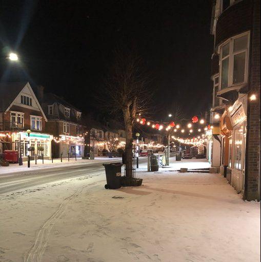 tankerton town kent christmas lights early