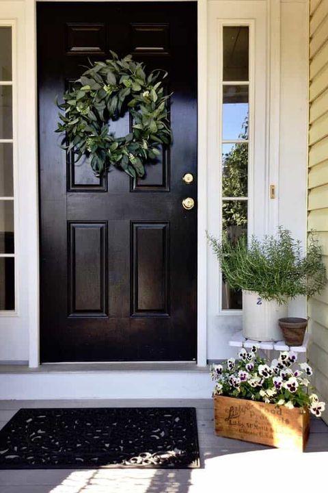 eucalyptus wreath fall door decorations