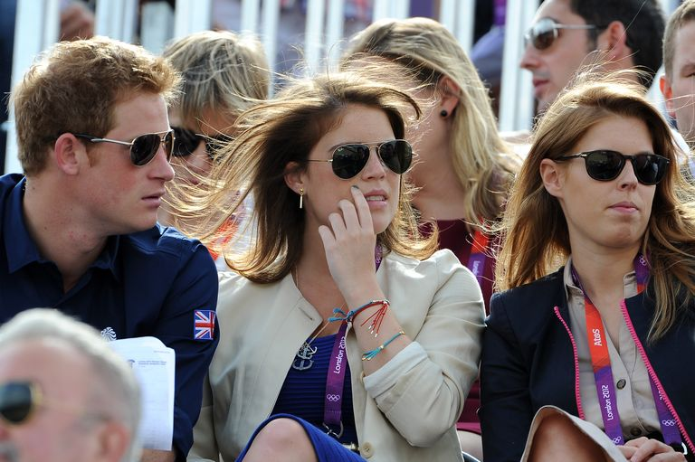 Prince Harry and Princess Eugenie and Beatrice