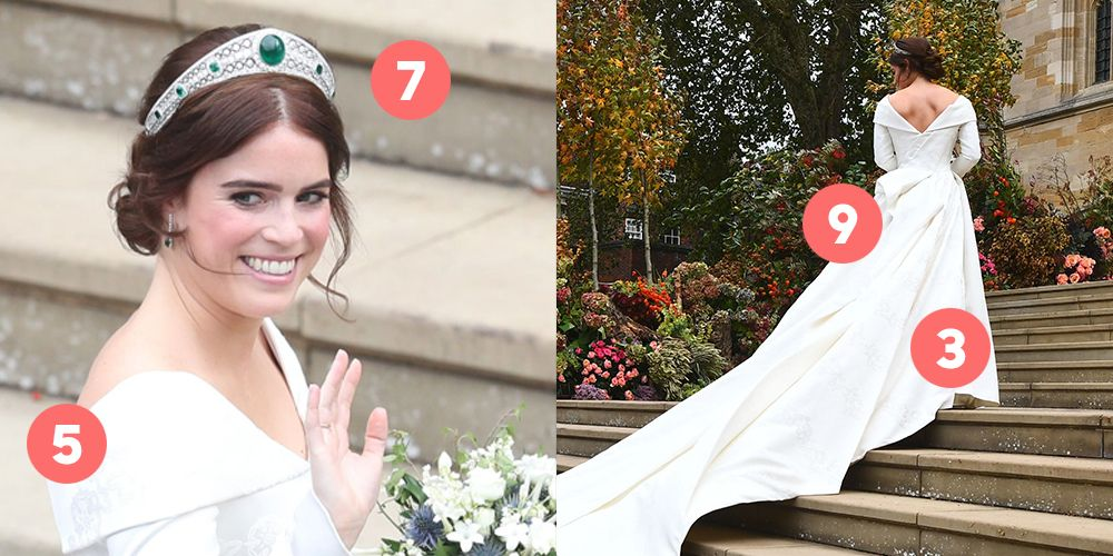 12 Hidden Details You Missed On Princess Eugenie S Wedding Dress