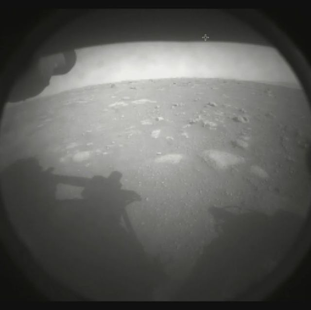 first picture taken by nasa's perseverance rover