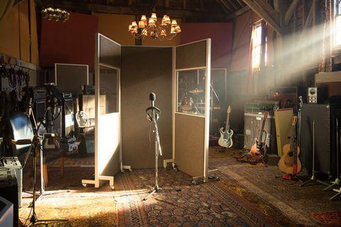 Lighting, Building, Room, Stage, Interior design, Door, Flooring, House, Studio, Recording studio,
