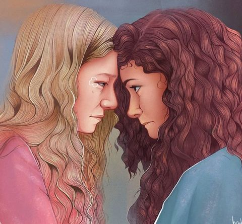 Euphoria HBO Fan art ilustraciones