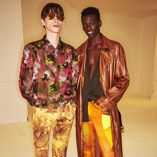 Fashion, Fashion design, Human, Textile, Fun, Outerwear, Eyewear, Costume, Jacket, Art,