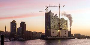 Het Elbphilharmonie concertgebouw in Hamburg.