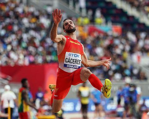 Doha 2019: Eusebio Cáceres en la final de longitud