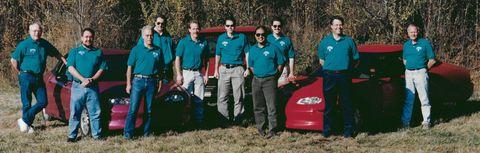 gm ev1 vehicle test and development group circa 1995