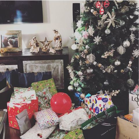 Interior design, Room, Christmas tree, Christmas, Tree, Home, Living room, Present, Gift wrapping, Christmas decoration,