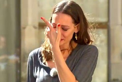 Eva González pasa su peor momento en televisión durante la semifinal de Masterchef Junior