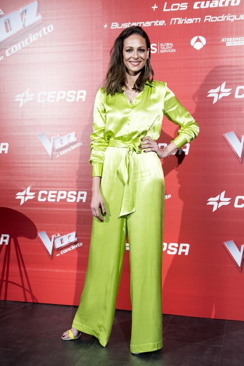 Eva González en la presentación del concierto de 'La Voz'.