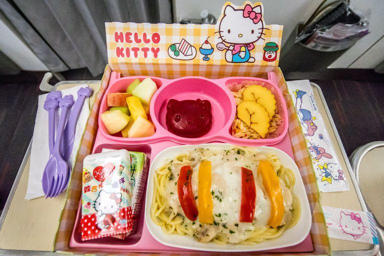 What Eva S Hello Kitty Themed Flight Is Like