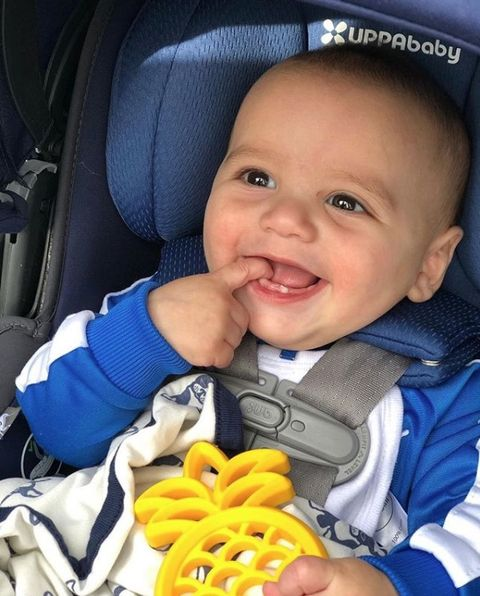 Child, Baby in car seat, Baby carriage, Baby, Product, Toddler, Yellow, Car seat, Baby Products, Smile,