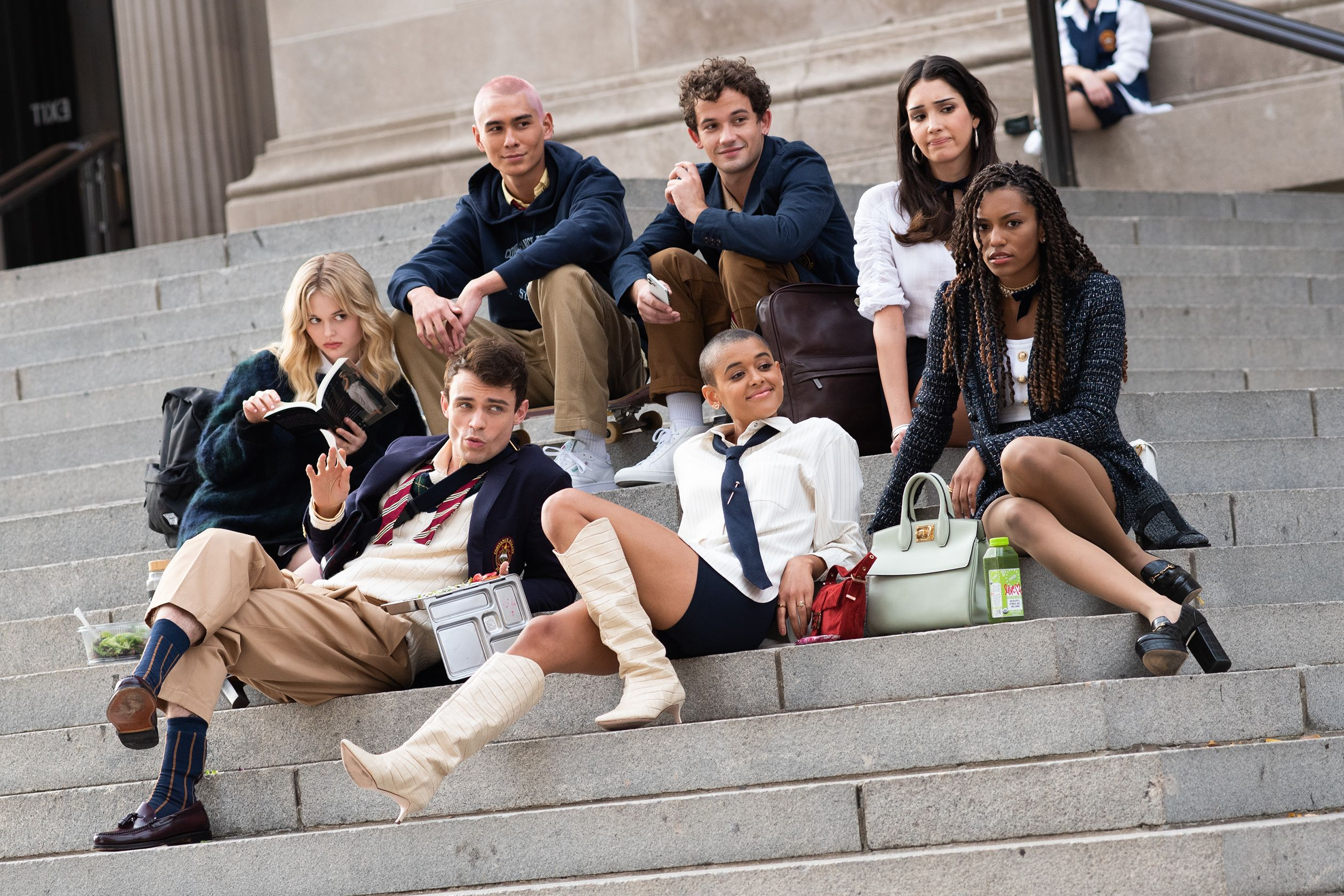Here Are the Best 'Gossip Girl' Reboot Looks From the Set