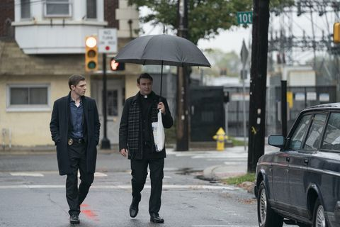 evan peters and james mcardle in hbo's mare of easttown