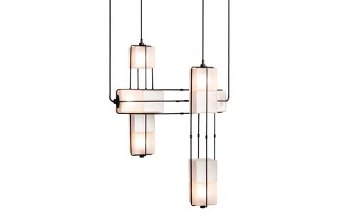 Light fixture, Lighting, Ceiling fixture, Ceiling, Lamp, Chandelier, Interior design, Metal,