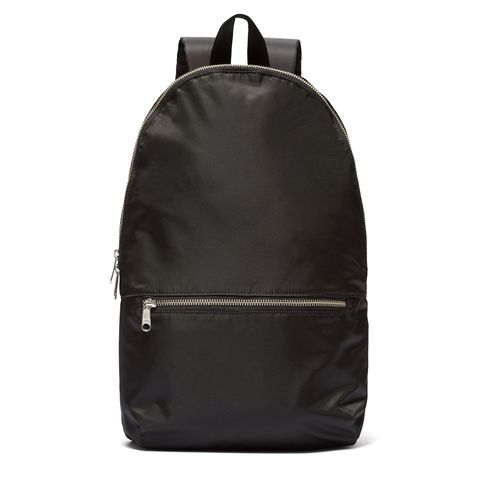 everlane packable black backpack