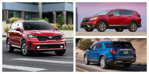 every hybrid crossover and suv sold in 2021