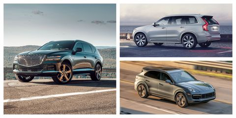 every 2021 midsize luxury suv and crossover ranked
